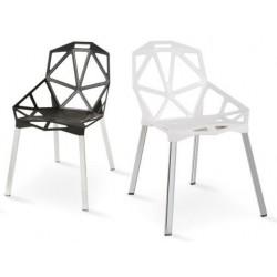 Cadeira Alumínio, Polipropileno Branco SD1246