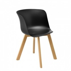 Cadeira Madeira Polipropileno Preto SD1319