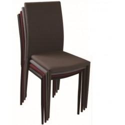 Cadeira Pele Sintética Castanho Choc. SD1322