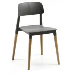 Cadeira Polipropileno Cinza Grafite SD1450