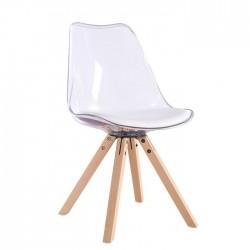 Cadeira Policarbonato Coxim Branco SD1477