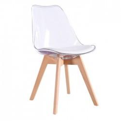 Cadeira Policarbonato Coxim Branco SD1478