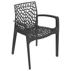 Cadeira Empilhável Polipropileno Antracite SD1500