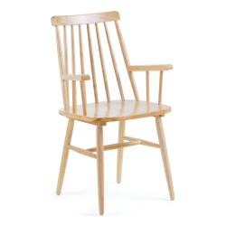 Cadeira Madeira c/ braços L1018