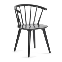 Cadeira madeira preta L1029