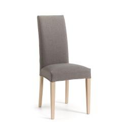 Cadeira Madeira, Tecido Cinza L1042