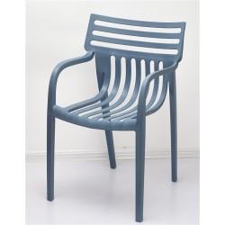 Cadeira Empilhável Polipropileno Cinza Slate SD6