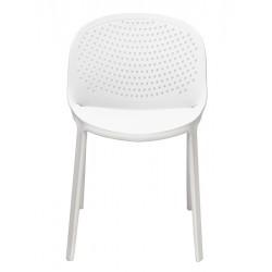 Cadeira Empilhável Polipropileno Branco SD12