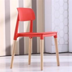 Cadeira Madeira Polipropileno Vermelho SD128