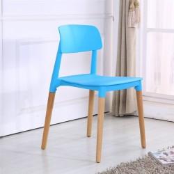 Cadeira Madeira Polipropileno Azul SD129