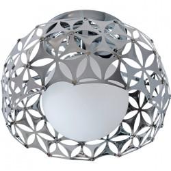 Candeeiro Plafond Metal + Bola de Vidro IL154