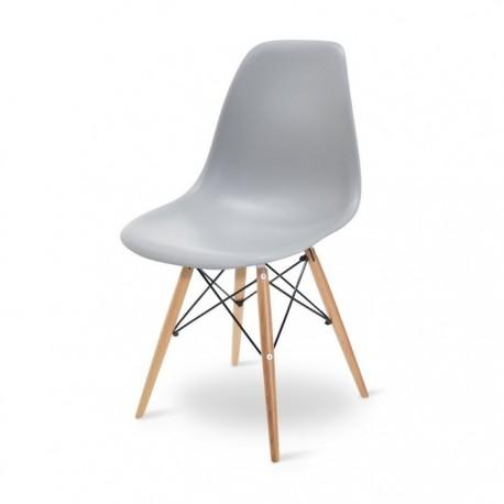 Cadeira Madeira Polipropileno Cinza SD241