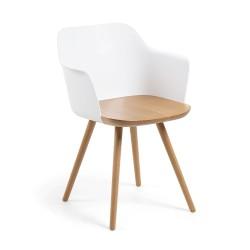 Cadeira Madeira + Polipropileno L322