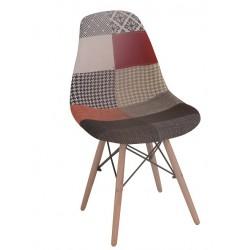 Cadeira madeira, tecido patchwork SD224