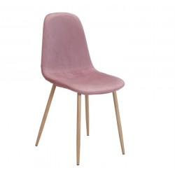 Cadeira Metal, veludo rosa SD288
