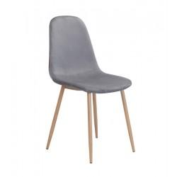Cadeira Metal, veludo cinza SD285