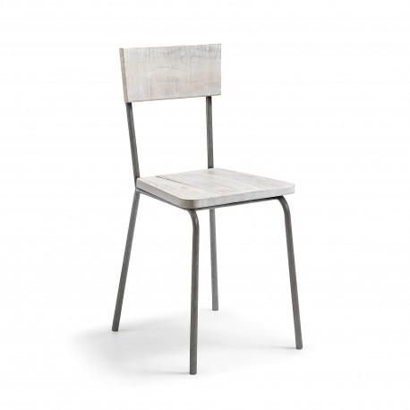 Cadeira Metal + Madeira L938