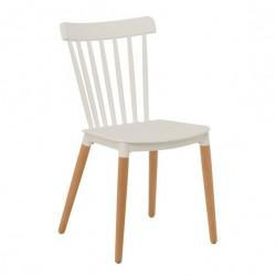 Cadeira Madeira, Polipropileno Azul SD1515