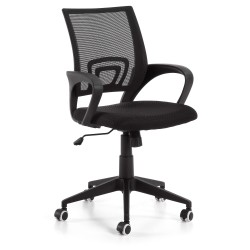 Cadeira Escritório Tecido + Rede Preto L1268