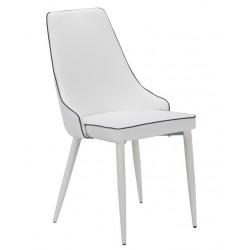 Cadeira Metal Pele Sit. Capuchino SD1549