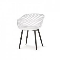 Cadeira Metal, Polipropileno Cinza SD1555