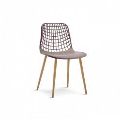 Cadeira Metal, Polipropileno Cinza SD1557