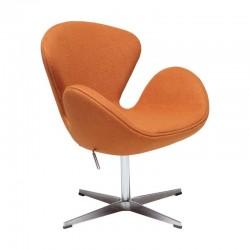 Poltrona tecido cachemir laranja SD1583