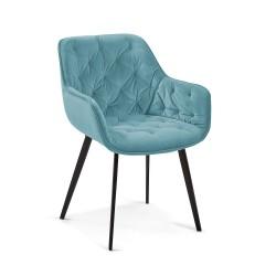 Cadeira Madeira + Veludo L1300