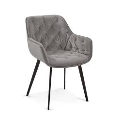 Cadeira Madeira + Veludo L1301