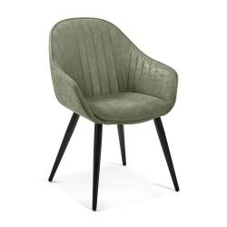 Cadeira Madeira + Pele Sintética L1308