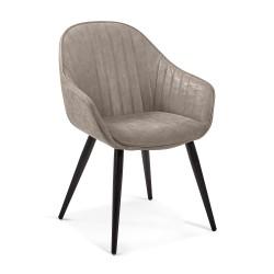 Cadeira Madeira + Pele Sintética L1309