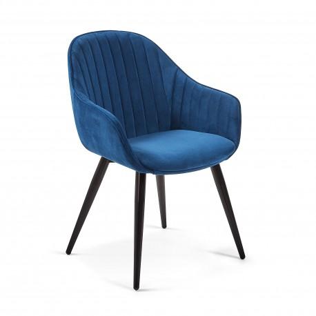 Cadeira Madeira + Veludo L1312