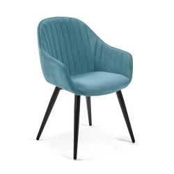 Cadeira Madeira + Veludo L1313