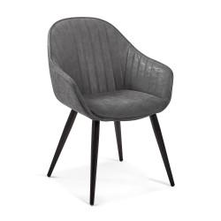 Cadeira Madeira + Pele Sintética L1314