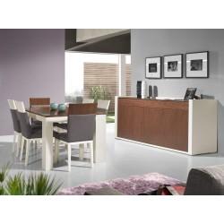 Sala jantar lacado+Nogueira 660