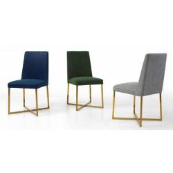 Cadeira dourada+ pele sintética, VT1046