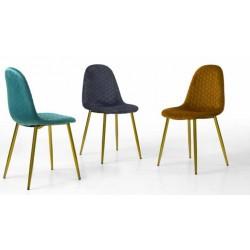 Cadeira dourada+tecido velvet, VT1058