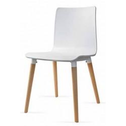 Cadeira madeira, polipropileno VT1069