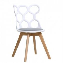 Cadeira Madeira, Polipropileno SD1640