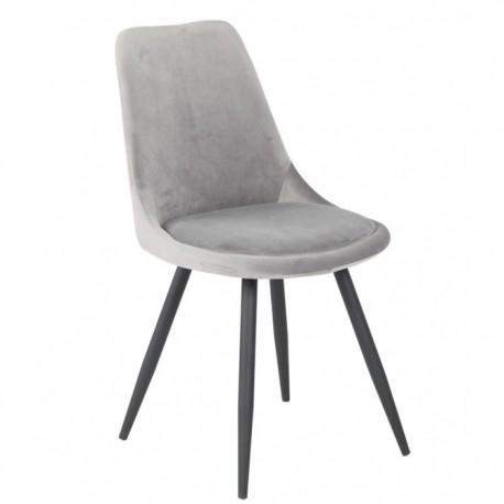 Cadeira metal veludo cinza SD1645