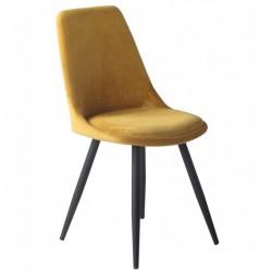 Cadeira metal veludo cinza SD1646