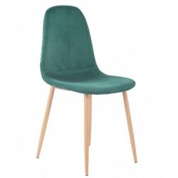 Cadeira Metal, veludo verde SD1647