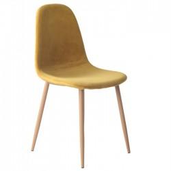 Cadeira Metal, veludo amarelo SD1648