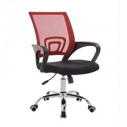 Cadeira Escritório Preto e Vermelho SD1685