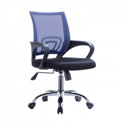 Cadeira Escritório Preto e Azul SD1687