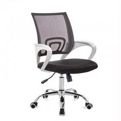 Cadeira Escritório Branco+Preto SD1691
