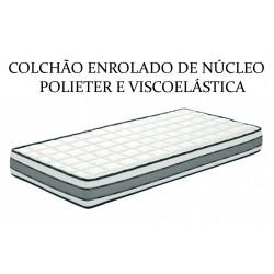 Silver-colchão enrolado de núcleo polieter alta densidade e viscoelástica