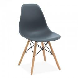Cadeira Polipropileno Cinza Escuro SD1744