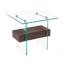 Mesa Apoio , vidro, madeira, SD1758