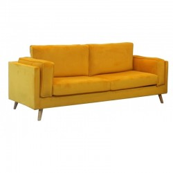 Sofá 3L Veludo Amarelo SD1766